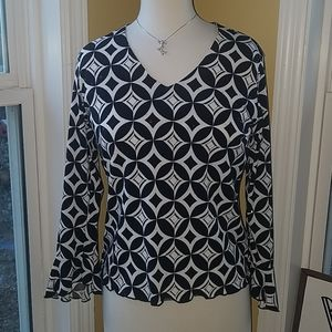 DressBarn Blouse w/ sparkly accent size Small